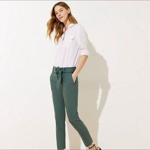 Slim Ann Taylor Pant 14 pockets Dusty Green
